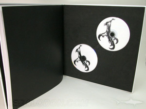 custom dvd hard bound book packaging 12inch vinyl oversized foam insert