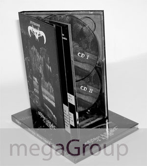 custom dvd hard bound books packaging double disc tray